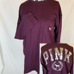 Bling Sequin PINK Victoria's Secret Logo Tee Shirt